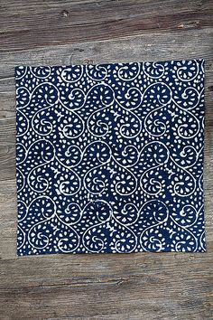 Mothology.com - Indigo Dyed Napkin with Loop Design, $10.95 (http://www.mothology.com/indigo-dyed-napkin-with-loop-design/)