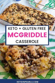 Low Carb Breakfast Casserole, Keto Casserole, Breakfast Carbs, Low Carb Pancakes, Casserole Recipes, Ketogenic Recipes, Easy Keto Recipes, Healthy Low Carb Recipes, Galletas Keto