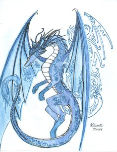 The Anglo Saxon Ice Dragon Ice Dragon, Water Dragon, Fantasy Creatures, Mythical Creatures, Dragon Pictures, Anglo Saxon, Pretty, Art, Google Search