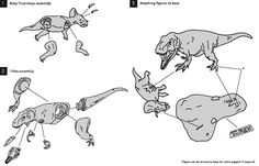 Part of the assembly instructions for the Pegasus Hobbies T. rex kit.