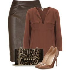 """Brown"" by sonies-world on Polyvore"