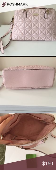 Kate ♠️ Spade Great Condition! Very Well Loved// plenty of room// ballet pink// long strap included//MAKE AN OFFER kate spade Bags