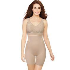 2b2b1ed29 Women s Bali Customized Comfort High Waist Thigh Slimmer DF0047