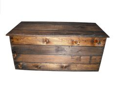 Primitive Wood Box Storage Chest Trunk Wooden box by jdwallingtons, $159.99