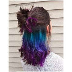 Trick Your Conservative Office With This Underlights Rainbow Hair... via Polyvore featuring accessories and hair accessories