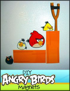 DIY Angry Birds Magnet Tutorial.  Might make a fun stocking stuffer or DIY gift for an Angry Birds fan.