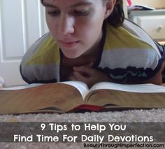 9 Ways to Make Time For Daily Devotions - Beauty Through Imperfection