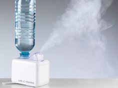 Travel size humidifier that works with standard water bottles.