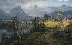 #JohanChristianDahl #Landscape #Norwegian #Farm