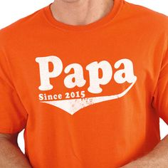 *** This is for a PAPA Since 2015 T-shirt,  If you would like a Different Year just indicate that in the Notes Section when you send your payment.      Father's Day Gift Papa Since 2015 Mens T shirt Dad Gift Shirt Husband Gift Funny Tshirt New Dad for Awesome Dad    All our t-shirts are screen printed by hand and made to order on 100% Cotton Tees.    All shirts are screen printed in a smoke free environment.    Only the best screen printing inks are used. I double hit each design to ensure…