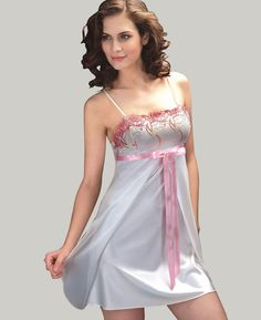 Beauty collection Pyjama Satin, Satin Nightie, Silk Chemise, Satin Lingerie, Pretty Lingerie, Babydoll Lingerie, Beautiful Lingerie, Lingerie Sleepwear, Nightwear