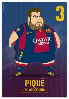 Fat Players: FC Barcelona on Behance