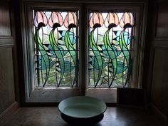 Window at Blackwell House. Study Architecture, Arts And Crafts Movement, Lake District, Stained Glass, Curtains, House, Mosaics, Architects, Inspiration