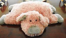 "Jellycat Rare Large 27"" Truffles Pink PIG / Piggy Soft Plush Stuffed Pillow Toy"