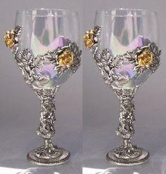 Rose Vine Wedding Toasting Glasses Set (Set of Wedding Rehearsal, Wedding Ceremony, Reception, Wedding Toasting Glasses, Wedding Flutes, Wedding Champagne, Champagne Glasses, Wedding Toast Samples, Best Man Wedding Speeches