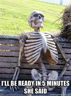 Waiting for season 3 of Young Justice. Or at least a TV show of it. Band Nerd, Waiting Skeleton Meme, Funny Skeleton, Facts About Time, Otaku, Marching Band Memes, Frases Humor, Smosh, Young Justice