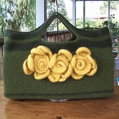hand knit and felted handbag that I made