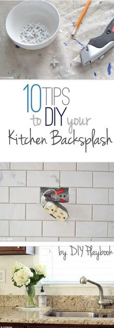 How to install subway tile backsplash (using mini tile sheets from ...