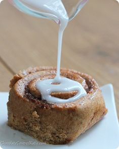 These soft pumpkin cinnamon rolls are perfect for Fall! Imagine a gooey, sticky cinnamon roll, stuffed with pumpkin pie! Vegan Pumpkin, Pumpkin Recipes, Fall Recipes, Healthy Pumpkin, Veg Recipes, Yummy Recipes, Sweet Desserts, Healthy Desserts, Dessert Recipes