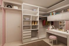 closet; ideia de closet. closet sob medida; closet improvisado; closet barato; closet planejado; closet marceneiro; ideia de closet sob medida barato; Luxury Bedroom Design, Bedroom Closet Design, Closet Designs, Bedroom Storage, Narrow Bedroom, Small Room Bedroom, Dream Bedroom, Bedroom Decor, Closets Pequenos