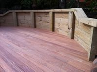 Decking Retaining Wall Beaconsfield, Ground Up Garden Renovators Pakenham Deck Landscaper www.gardenrenovators.com.au Concrete Retaining Walls, Deck With Pergola, Decking, Melbourne, Hardwood Floors, Landscape, Building, Garden, Wood Floor Tiles