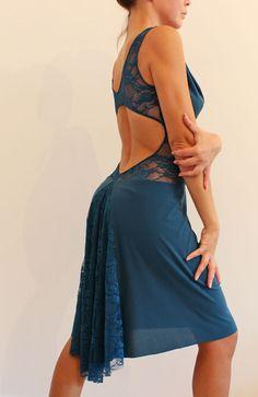 Kleid für den Tango Milonga tanzen stretch von CrinolinAtelier