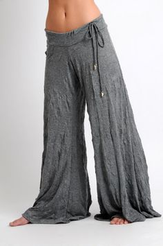 Letarte Crinkle Pants, Grey