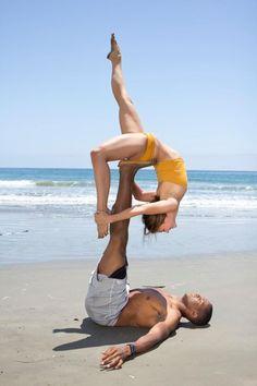 Fun in the sun! #acro #yoga