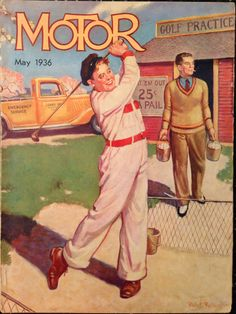 Motor Magazine May 1936 Golf Cover