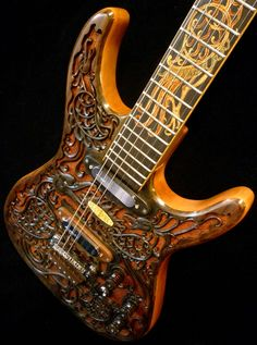 """Blueberry """"Hawk"""" Carved Electric Guitar   www.custommade.com  Thought you'd like to see this."""