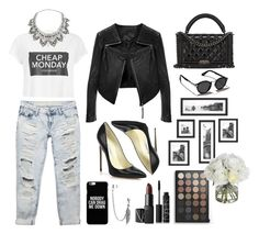 """Sin título #1963"" by iswaag ❤ liked on Polyvore featuring Cheap Monday, Miss Selfridge, Wet Seal, Linea Pelle, Brian Atwood, Bling Jewelry, NARS Cosmetics, Diane James, Abercrombie & Fitch and Chanel"