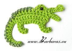 Crochet Aligator Applique