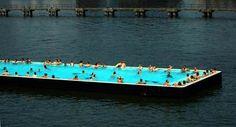 Pool on the water. Berlin, Germany