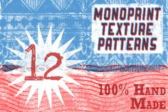 Check out Handmade Monoprint Patterns! by Ed J Brown Illustration on Creative Market