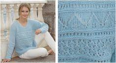 Matelot Knitted Lace Sweater [FREE Knitting Pattern]