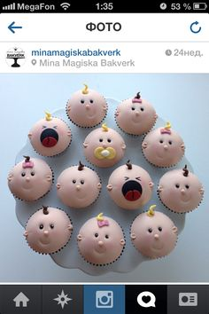 pretty baby cupcakes