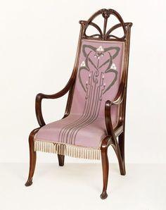 Art Nouveau armchair, Louis Majorelle, French, 1899-1900   Victoria and Albert Museum, London