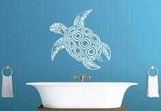 Tortoise Wall Decal - Beautiful Marine Creature Vinyl Sticker