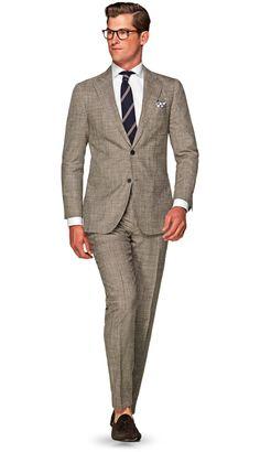 Suit Brown Check Havana P5131 | Suitsupply Online Store