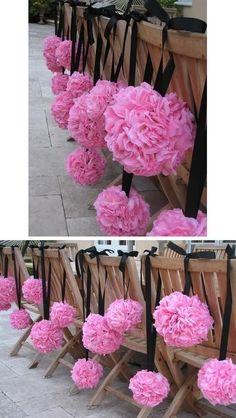 Pink and black pomanders (kissing balls) :  wedding Pomanders1 Photobucket