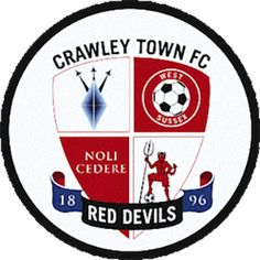 Crawley Town F., League Two, Crawley, West Sussex, England English Football Teams, British Football, Soccer Logo, Football Team Logos, Soccer Teams, Sports Logo, Crawley Town Fc, Fifa, Bristol Rovers