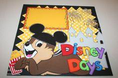 Disney Days Chip n Dale Scrapbooking