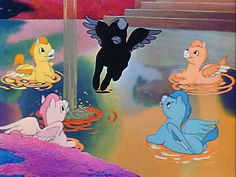 Cute little baby Pegasus' from the Pastoral Symphony sequence in Fantasia.