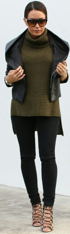 Audrey Lennox Leather Hooded Jacket / Fashion by Style Me Yesterday