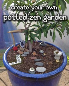 Potted Zen Garden Kit // Ready to Display by KimberlysDreamCraft, $42.00