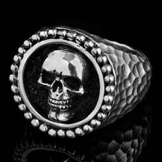 "This Clocks & Colours Diwans ring gets its name from the Gothic word for ""mortal"", but wearing it will make you feel utterly indestructible. Hand Crafted, Sterling Silver.  https://www.blackoakmotorcycle.com/collections/clocks-and-colours/products/clocks-and-colours-diwans-ring  #clocksandcolours #diwans #blackoakmotorcycle #rootedintheride"