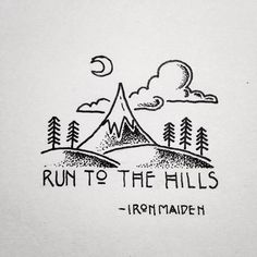 Run to the hills where I am waiting for you. -Jesus Run to the hills where I am waiting for you. Sharpie Drawings, Sharpie Art, Doodle Drawings, Doodle Art, Easy Drawings, Doodles, Black And White Drawing, Pen Art, Drawing Techniques