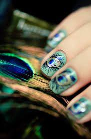 peacock nail art - Google Search