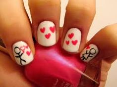 Valentines day nail Idea :)