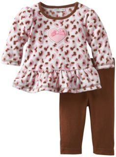Baby girl clothes#Babyworks #Baby-Girls Newborn #Micro Fleece Cheetah Clothing Set